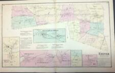 Antique Map Exeter, Ri - Dg Beers Atlas of the State of Rhode Island 1870