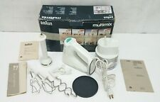 Braun Multimix - Gourmet Edition - Mixer Immersion Blender Chopper Attachments