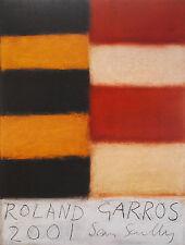 SEAN SCULLY - Rorald Garros 2001. Cartel anunciador 75 x 57 cm