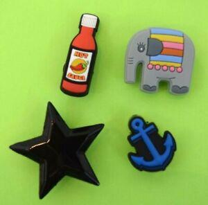 Crocs Jibbitz Charms * Hot Sauce * Elephant * Big Star * Anchor * NEW with TAGS!