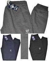 Pantalone UOMO felpa invernale calibrato 3XL 4XL 5XL 6XL nero grigio blu molla