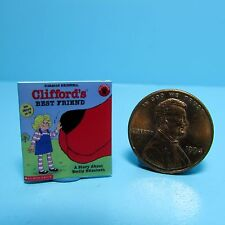 Dollhouse Miniature Replica of Book Clifford the Big Red Dog Best Friends ~ B025