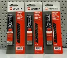 10st. Würth Cuttermesser Abbrechklingen 18 mm extrem scharf Teppichmesser Klinge