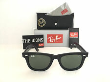NEW -Wayfarer Ray Ban RB2140 901 50mm Green G-15 Lens Black Frame