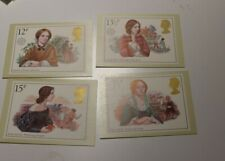MINT 1980 GB FAMOUS PEOPLE JANE EYRE, EMILY BRONTE PHQ MAXI CARD SET OF 4