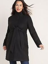 NWT Old Navy Maternity Soft-Brushed Funnel-neck Coat M
