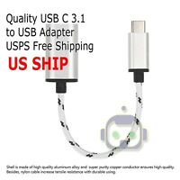 USB-C 3.1 Type C Male to USB 3.0 Silver Adapter OTG Data Sync Charging Cable