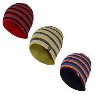 Trespass Coaker Mens Striped Beanie Hat Casual Winter Knitted Plain Cap