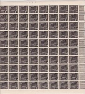 """Arbeiter Mi.Nr. 943 im Bogen """"Walze""""  mit Verschnitt im Unterrand"""