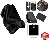 Salon Hair Cut Pro Black Hairdressing Hairdresser Barbers Cape Gown Adult Cloth