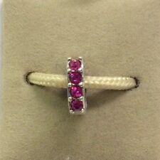 Chamilia Simple Elegance Fuchsia Swarovski Crystal Bead Charm Spacer Retail $40