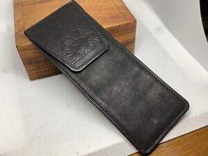 Vintage Leather Dart Case No Darts. Cowhide Button Close