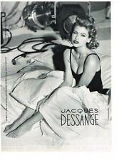 PUBLICITE ADVERTISING  1991  JACQUES DESSANGE  LAETITIA CASTA  coiffeur