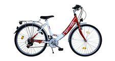 """26 Zoll Fahrrad Cityfahrrad 26"""" 18 Gang SHIMANO STVZO Damenfahrrad Rot/Weiss"""