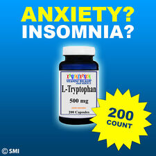 L-Tryptophan 500mg 200 Capsules  Helps Support Mood Relaxation And Restful Sleep