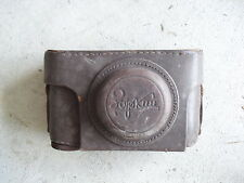 Vintage Leather Russian Camera Case with Strap