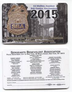 AUTHENTIC 2015 NYC SBA Card - Not CEA DEA PBA LBA