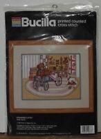 BUCILLA PRINTED COUNTER CROSS STITCH GRANDMA'S ATTIC 40378