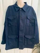 Vtg Delf Mens 3Xl Blue U.S. Army Concealed Button Front 4 Pocket Field Coat New