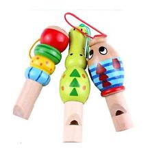Baby Toys Kids Educational Gifts Instrument Wooden Whistle Animal Musical