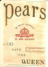 Original Vintage Pears 'God save the Queen' Advertisement The Graphic June 1897