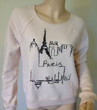 Abercrombie & Fitch Women Paris Embellished Sweatshirt, light Pink, size L