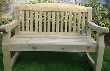 4ft Engraved Redwood Garden Bench for anniversary, memorial, personalised gift