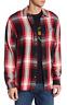 True Religion Plaid Loose Fit Shirt True Red XL NWT $149