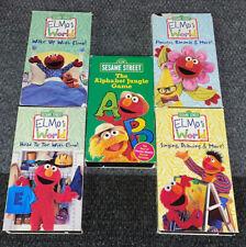 5 Sesame Street VHS Tape Lot Elmo Tapes Elmo's World,Alphabet,-TESTED