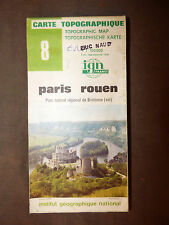 Carte IGN verte  8 Paris rouen 1983