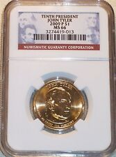 2009-P Tenth President John Tyler NGC MS66