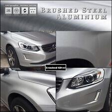Cepillo De Metal Plateado Aluminio Adhesivo Vinilo Envolver para el vehículo TABLERO TRIM Muebles