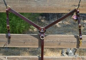 Tucker Saddlery 3-Piece Breast Collar Brass Hardware - COB/Arabian Size