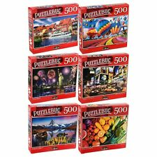 Lot of 6 500 Piece Jigsaw Puzzles Random Puzzles All new Sealed