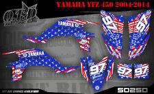SCRUB DEKOR KIT ATV YAMAHA YFZ 450 04-14  GRAPHIC KIT AMERICA SO2500 B