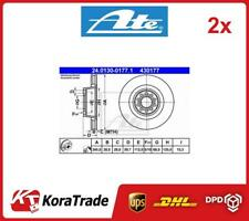 2x 24-0130-0177-1 ATE OE QUALITY BRAKE DISC SET