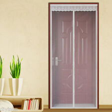 White Hands Free Auto Mesh Screen Net Door with Magnets Anti Mosquito Bug