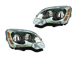 FOR 2008-2012 GMC Acadia Halogen Head Lights Lamps Driver & Passenger Side LH+RH