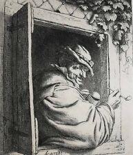 Adriaen Jansz Van Ostade Dutch 1610-1685 Etching Man with Pipe
