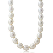 7MM Cultured White Pearl 925 Sterling Silver 16-18 Inch Adjustable Necklace