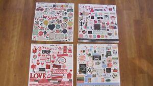 """Echo Park 12"""" x 12"""" Sticker Pages Ephemera"""