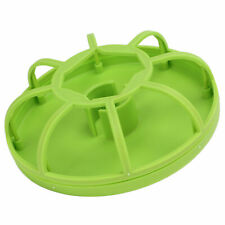 Reptile Pet Tortoise Automatic Drink Water Dispenser Feeder Round Tray Accessory