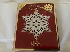Lenox 2004 Snow Fantasies Annual Snowflake Ornament w/box & Gold Tag
