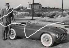 23x18 Original Foto 1949 Ferrari 166 MM Barchetta Johnson 1st USA Ferrari photo
