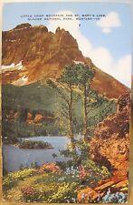 Montana Postcard LITTLE CHIEF MOUNTAIN & ST MARY'S LAKE Glacier National Park