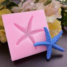 Sea Fish Star Shell Silicone Fondant Mould Cake Topper Decoration Baking Mold 3D