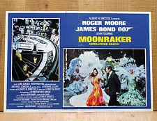 MOONRAKER OPERAZIONE SPAZIO fotobusta poster James Bond 007 Roger Moore
