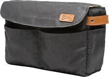 ONA - The Roma - Camera Bag Insert - Black Waxed Canvas (ONA5-004BL)