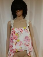 Nina's By Stone Cold Fox Floral Print Top With Lace Straps Size M