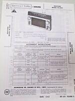 Sams Photofact Folder Radio Parts Manual Realtone TR-2021 Transistor Receiver